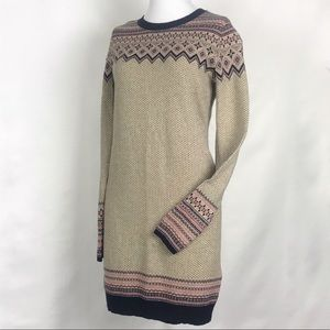 Anthro's If It Were Me Fair Isle Sweater Dress S